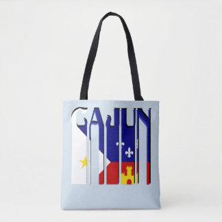 Retro Cajun Acadiana Flag Louisiana Tote Bag