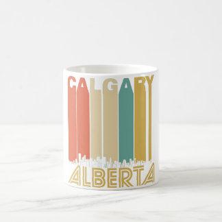 Retro Calgary Alberta Canada Skyline Coffee Mug