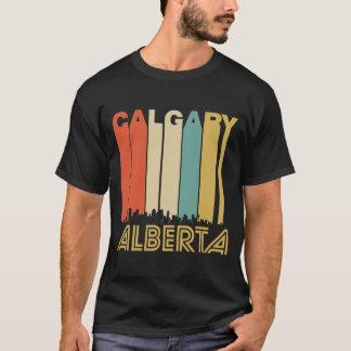 Retro Calgary Alberta Canada Skyline T-Shirt