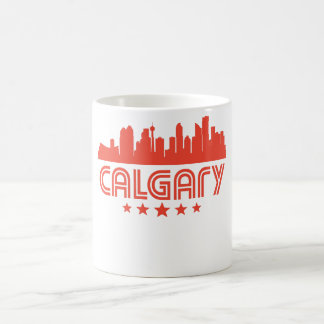Retro Calgary Skyline Coffee Mug