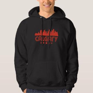 Retro Calgary Skyline Hoodie