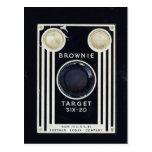 Retro camera brownie target. postcard