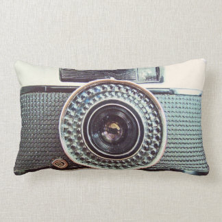 Retro camera lumbar pillow