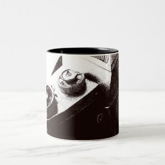 Retro camera on mug