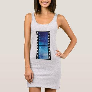 Retro camera space sleeveless dress
