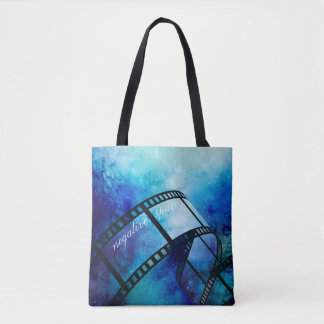 Retro camera space tote bag