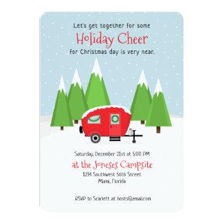 Retro Camper Christmas Card