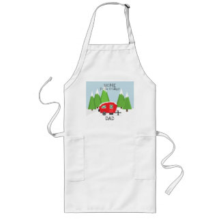 Retro Camper Christmas Long Apron
