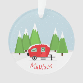 Retro Camper Christmas Ornament