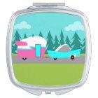 Retro Camper / Trailer and Car Compact Mirror