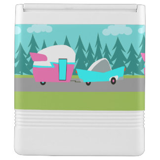 Retro Camper / Trailer and Car Igloo Can Cooler