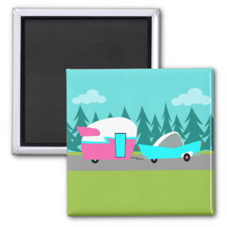 Retro Camper / Trailer and Car Magnet