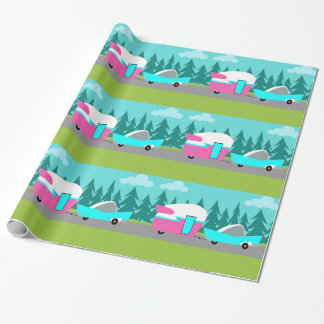 Retro Camper / Trailer and Car Wrapping Paper