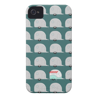 Retro Campers in Grey iPhone 4 Cover