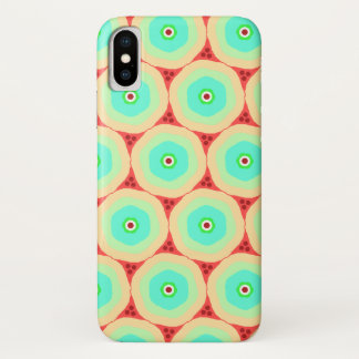 Retro candy circles in concentric rings iPhone x case