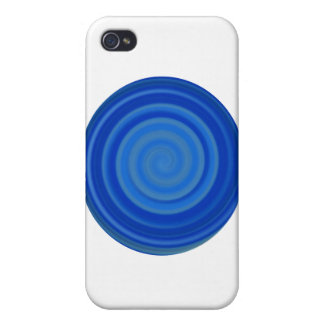 Retro Candy Swirl in Blueberry Blue iPhone 4/4S Covers