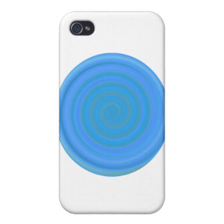 Retro Candy Swirl in Blueberry iPhone 4 Cover