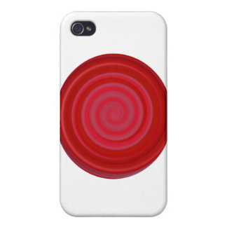 Retro Candy Swirl in Cherry Red iPhone 4 Case