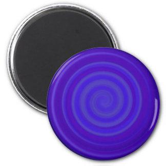 Retro Candy Swirl in Grape Berry 2 Inch Round Magnet