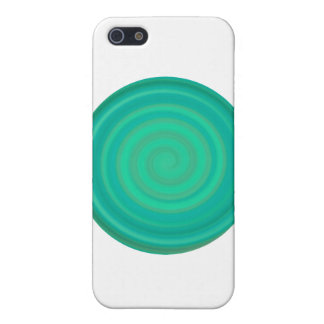 Retro Candy Swirl in Kiwi Teal Case For The iPhone 5