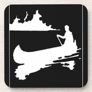 Retro Canoe Silhouette Beverage Coaster
