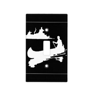 Retro Canoe Silhouette Light Switch Cover