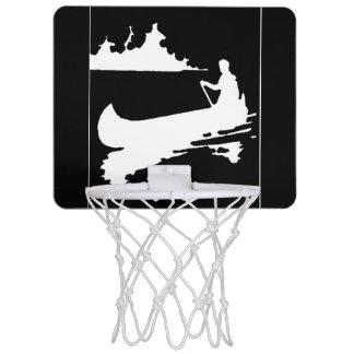 Retro Canoe Silhouette Mini Basketball Hoop