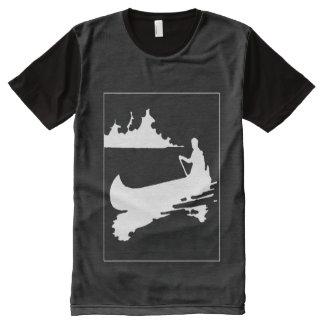 Retro Canoe Silhouette Panel T-Shirt