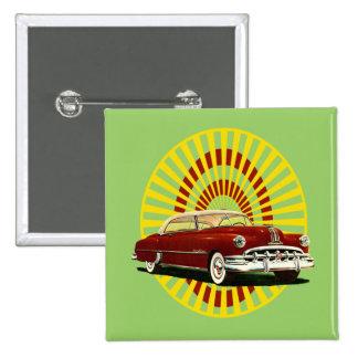 Retro Car Pinback Buttons