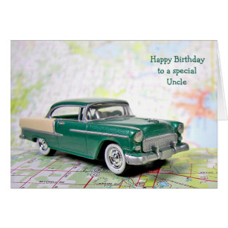 Retro Car for Uncle's Birthday Card