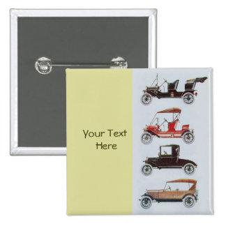 RETRO CARS 2- Auto repair automotive ,yellow 2 Inch Square Button