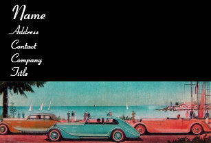 Vintage garage business cards profile cards zazzle ca retro cars auto repair automotive business card reheart Image collections
