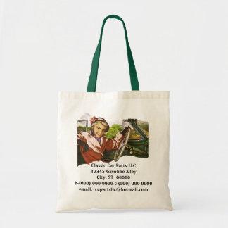 Retro Cars Road Trip Promo Advertising Tote Bags
