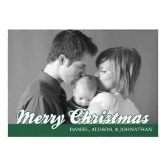 Rétro carte de Joyeux Noël de manuscrit arbre Cartons D'invitation