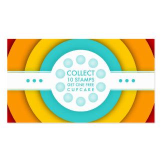 rétro carte de timbre de fidélité de PETIT GÂTEAU Carte De Visite