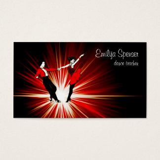Rétro carte de visite de studio de danse de style