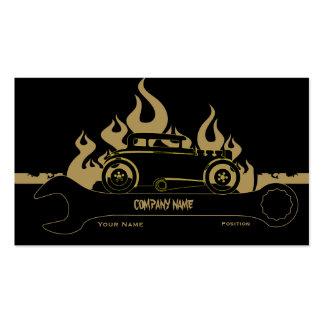 Rétro carte d'entreprise de services de voiture modèles de cartes de visite