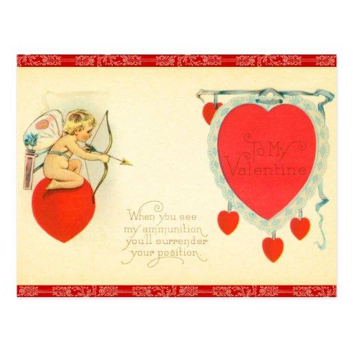 Rétro carte postale de Valentine