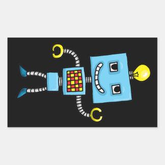 Retro cartoon blue robot sticker