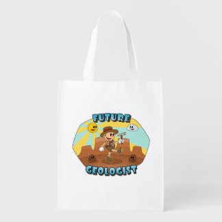Retro Cartoon- Future Geologist (One-Sided) Reusable Grocery Bag