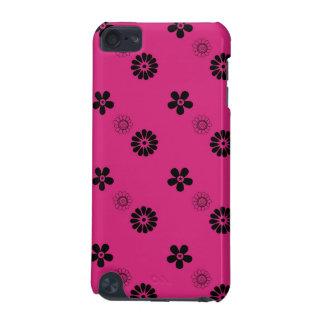 Rétro cas de fuchsia et de contact d'iPod de fleur Coque iPod Touch 5G