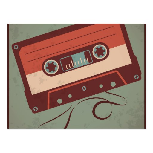 Retro Casette Tape Post Cards