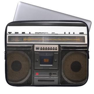 retro cassette player music hipster stereo tape laptop sleeve