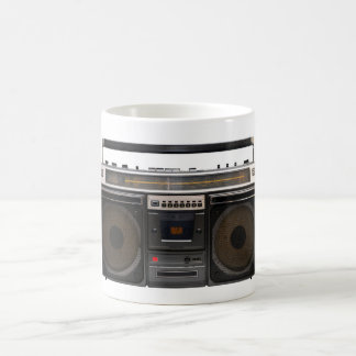 retro cassette player music stereo tape vintage classic white coffee mug