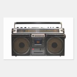 retro cassette player music stereo tape vintage sticker