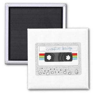 Retro cassette tape 80s style magnet