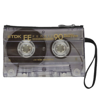 Retro Cassette Tape and Album Clutch Bag