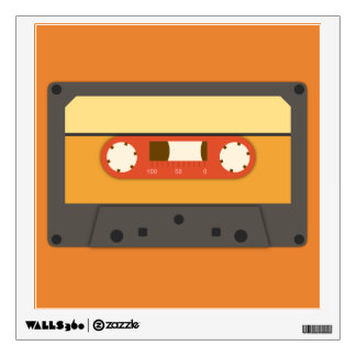 Retro cassette tape decal