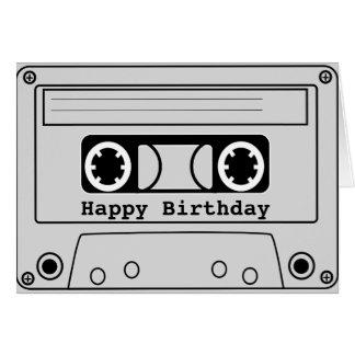 Retro cassette tape grunge music card