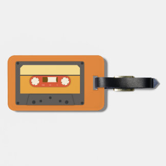 Retro cassette tape luggage tag